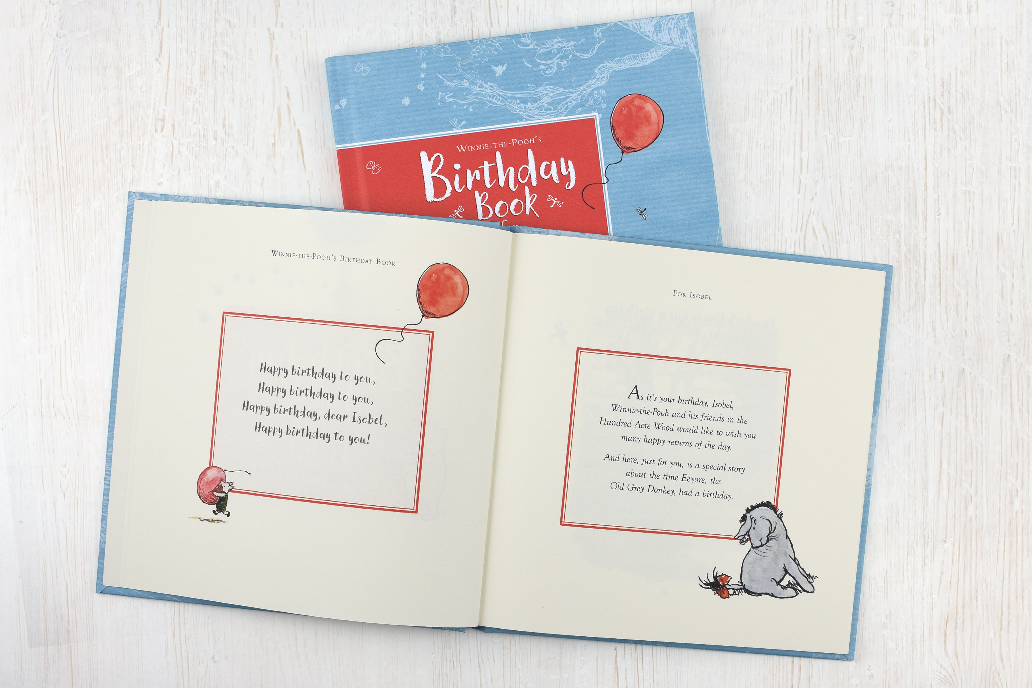winnie the pooh s birthday book for you personalised books from